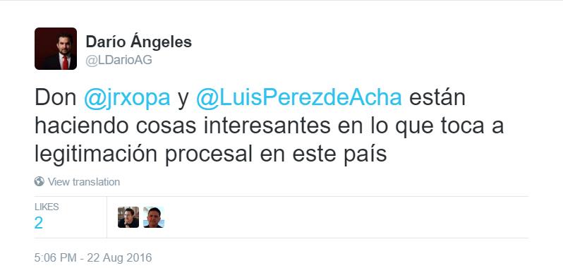 tweet-legitimación procesal