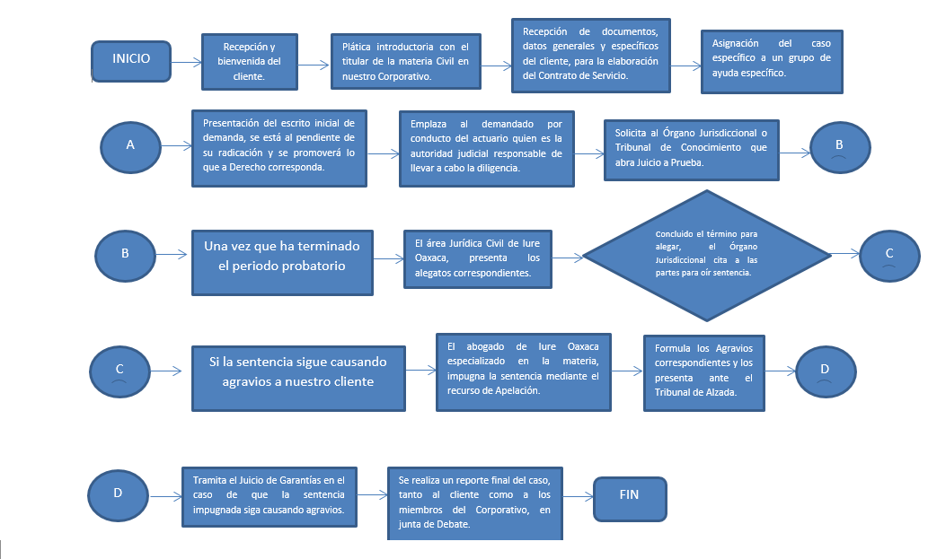 Diagrama Juicio Ordinario Civil